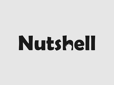 Nutsell Logo nuts negative space logo minimalist logo branding brand designer wordmark logo logo designer