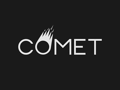 Comet Logo wordmark logo wordmark space comet logo designer brand designer branding