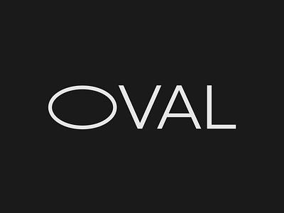 Oval Logo concept design illustration vector logo logo designer brand designer wordmark logo minimalist typography branding