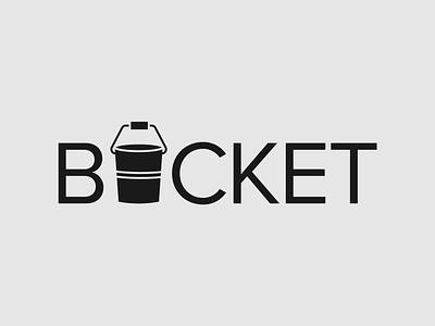 Bucket Logo Concept bucket logo wordmark logo brand designer logo designer vector illustrator typography logo branding