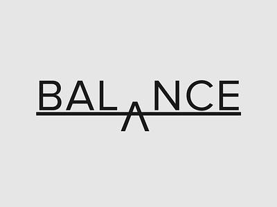 Balance Logo Concept balance logo design minimalist typography logo branding brand designer logo designer