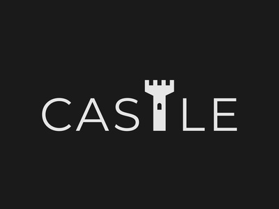 Castle Logo Concept wordmark logo logo designer brand designer design minimalist vector typography logo branding