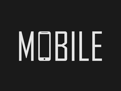 Mobile Logo Concept mobile logo wordmark logo brand designing logo designing logo designer brand designer minimalist illustrator logo vector typography branding
