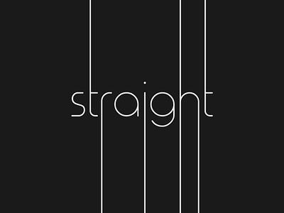 Straight logo concept design illustrator vector typography unqiue creative minimalist straight logo wordmark logo brand designer branding logo designer logo