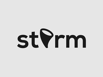 Storm wordmark logo concept brand designer logo design logo designer storm logo design graphic design minimalist illustrator vector typography logo branding