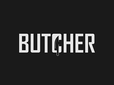 Butcher Logo Concept design illustration vector illustrator typography butcher logo minimalist design minimalist logo design wordmark designer wordmark logo brand designer logo designer logo