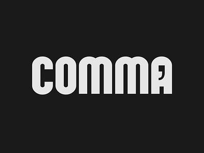 Comma wordmark logo concept comma logo logo designing minimalist logo brand designer wordmark logo logo designer design minimalist illustrator vector typography logo branding