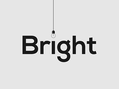Bright wordmark logo concept illustrator vector typography branding minimalist design logo designer wordmark logo brand designer logo design logo