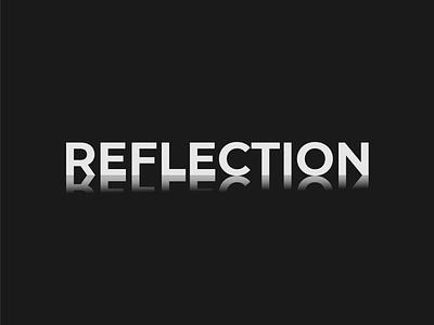 Reflection logo concept brand designer wordmark logo logo designer design minimalist illustrator vector typography logo branding