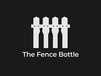 Fence Bottle Logo Concept fence logo bottle logo logo designer illustration design minimalist illustrator vector typography logo branding