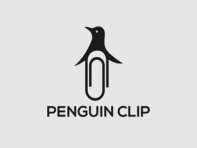 Penguin Clip Logo Concept clip logo penguin logo illustration design minimalist illustrator vector typography brand designer wordmark logo branding logo designer logo