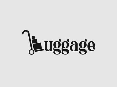Luggage logo concept minimalist illustrator vector typography luggage logo logo identity branding brand designer wordmark logo logo design logo
