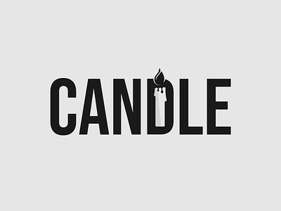 Candle Logo Concept logo identity brand identity candle logo design minimalist illustrator vector logo typography branding wordmark logo brand designer logo designer