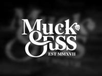 """""""Muck & Fuss"""" logo and branding"""