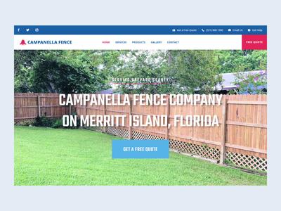 Campanella Fence Inc. WordPress Website Design Project