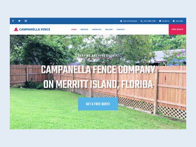 Campanella Fence Inc. WordPress Website Design Project wordpress website design