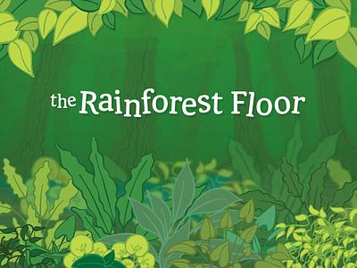 Rainforest assets jungle nature green plants vector progress cartoon