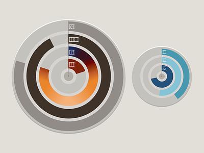 D'ni Timepiece App Clock Faces app myst interface flat ui vector