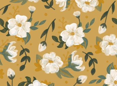 White and Gold Floral
