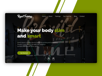 Designed the Royal Training Website