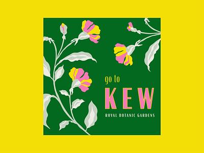 Go to Kew illustration floral illustration botanical illustration botanical london gardens kew floral floral art