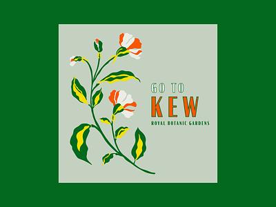 Go to Kew Part Two london kew gardens kew florals organic flat flower botanical illustration botanicals floral illustrations floral illustration