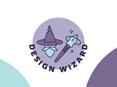 Design Wizard Badge team building fun vector illustration vector nib pen hat wizard hat wizard design art
