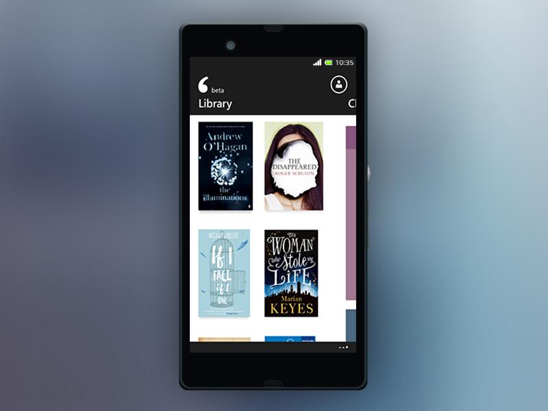 txtr for Windows phone - BETA windows phone beta ebooks reading app ui win8 windows phone ui design