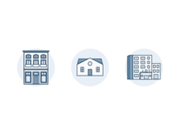 Apartment - House - Office Placeholder icons
