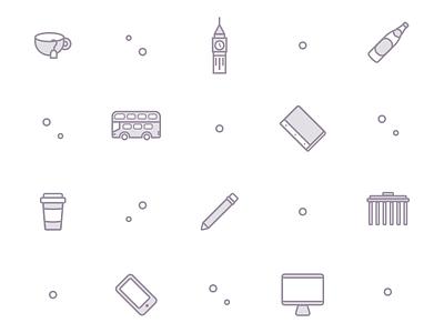 DesignLab Brand Icons background community designer design meetup berlin london outline branding icons