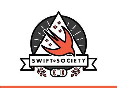 Introducing: Swift Society secret society novoda vector sticker badge logo tech liverpool community meetup swift ios