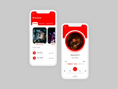 Mobile Music Player App mobile player uiux design orange music app music player music uiux adobe xd design ui ui design graphic designer ui designer branding design app design adobexd