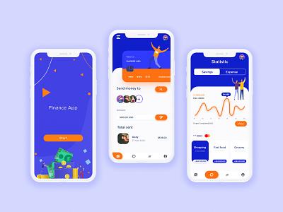 Finance App finance app bankingapp uidesign illustration application uiux ui branding design graphic designer ui designer app design ui design adobe xd adobexd