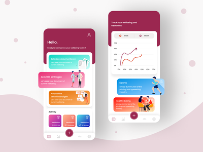 Health App axay figma designer uiapp design uiux mobile application branding design app design uidesign graphic designer ui designer ui design health app
