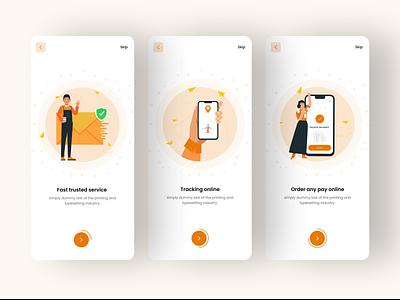 On-boarding screens application mobile design uidesign graphic designer ui designer branding design app design ui design adobexd on-boarding screens
