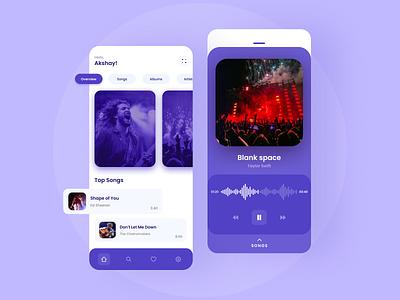 Music Player illustration ui uiux uidesign graphic designer ui designer adobexd app design design branding design music player app music player ui design