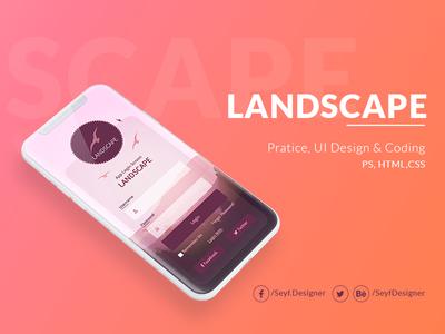 Practice#2 UI Design & Coding css3 html5 appdesign app ux ui design photoshop