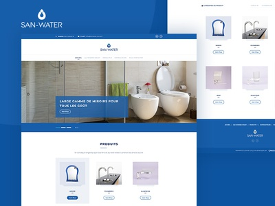 SanWater | Website Design bathroom landing web bootstrap 4 website design web  design adobe photoshop cc adobe photoshop graphic design ux ui design