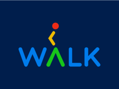 Walk Wordmark Logo logo mark logo design walking walk creative wordmark clever wordmark creative logo creative