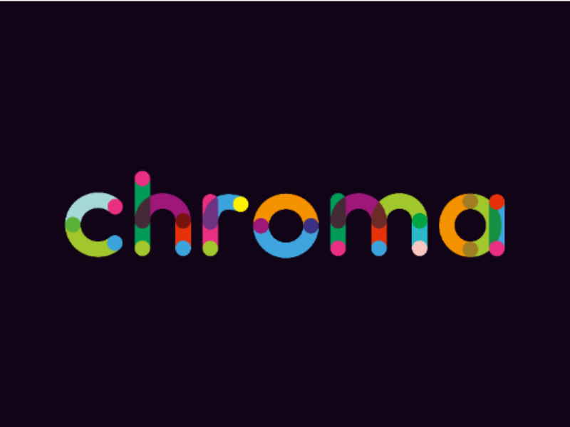 Chroma Display Logo creative logo chromatic chroma colors colorful logo typographic logo typography display logo