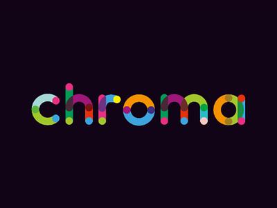 Chroma Display Logo creative logo chromatic chroma colors colorful logo typographic logo typography display logo