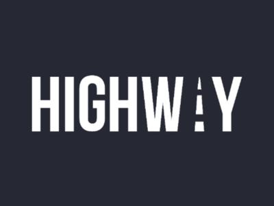 Highway Clever Wordmark Logo typography typographic logo highway wordmark wordmark logo clever wordmark clever wordmark logo creative