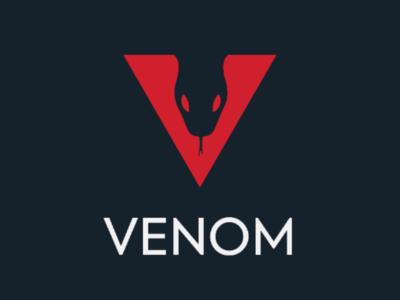 Venom Logo Design logos logo design logo mark logotype logo letter v snake negative space logo creative