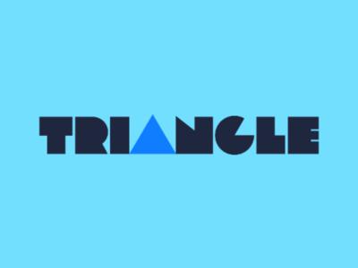 Triangle Display Logo creative logo logo logo design typographic logo typography clever wordmark wordmark triangular shape triangle display display logo