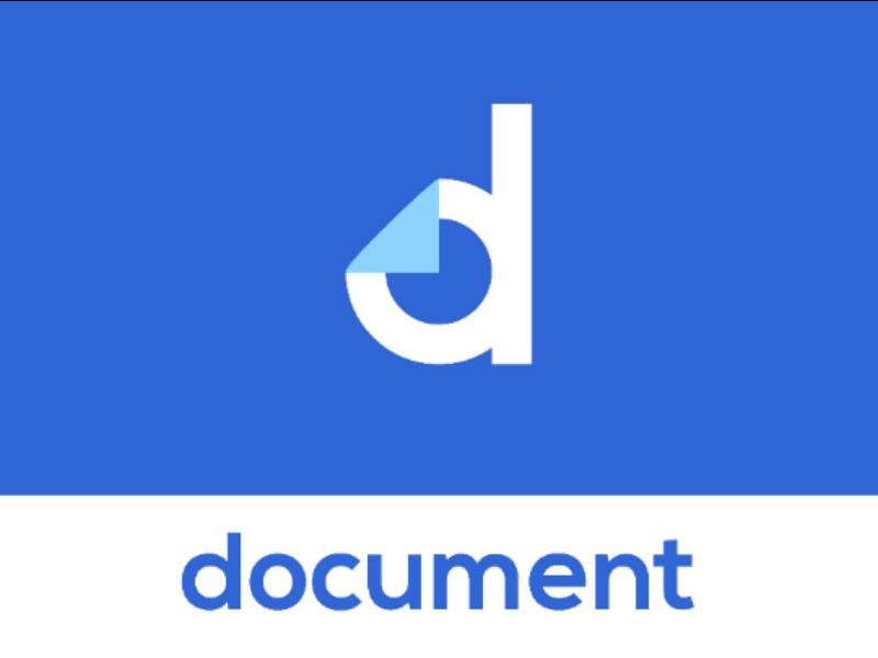 Document Logo Design files corporate logo modern logo logo designer logo concept logo inspiration logo design blue letter d document clever letter mark letter mark monogram