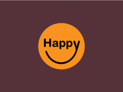 Happy Logo logo clever wordmark clever typography custom typography typographic logo expressive typography typography happy face brand designer brand identity logo designer logo design emblem logo happiness happy creative design creative designer creative logo