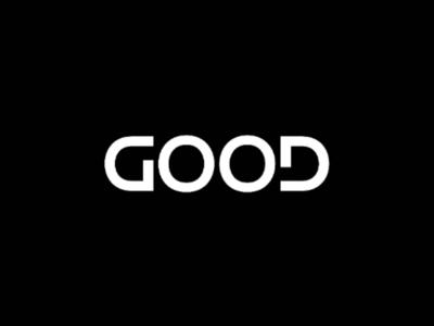 GOOD ambigram logo brand designer logo designer clever logo wordmark logo wordmark typographic logo typography ambigram design ambigram logo good ambigram ambigram good