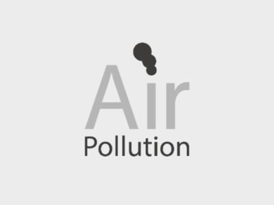 Air Pollution smoke pollution wordmark logo typographic logo typography wordmark air pollution