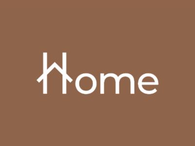 Home brand identity branding clever wordmark clever typography house logo home logo creative logo wordmark logo wordmark typographic logo typography logo design logo home
