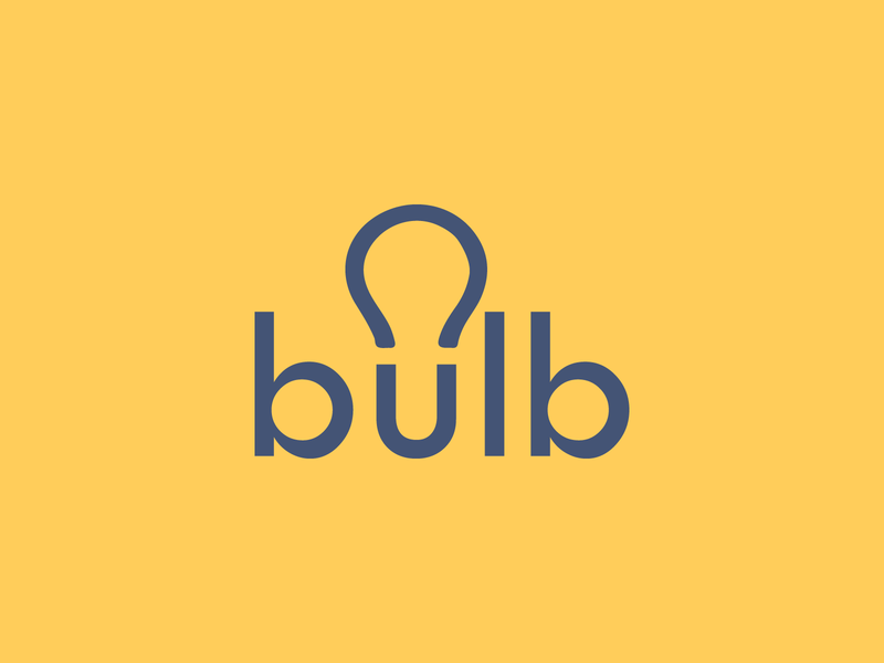 bulb mobile print bulb clever wordmark brand designer logo creative logo brand identity branding typographic logo typography logo designer logo design